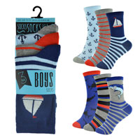 Boys 3 Pack Shark Design Socks