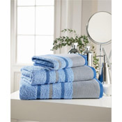 Egyptian Cotton Hand Towel Light Blue Stripe