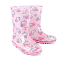 Kids Unicorn Wellington Boots