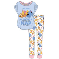 Ladies Official Winnie The Poo Nap Pyjamas