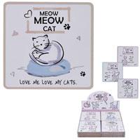 Cat Coasters Meow Meow