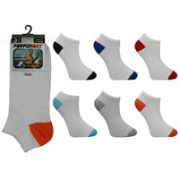 Mens Performax Trainer Socks White Coloured Toe