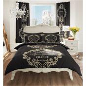 Paris Black Duvet Set