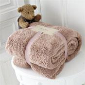 Luxurious Super Soft Teddy Throw Mink
