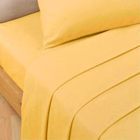 Luxury Percale Fitted Bed Sheet Ochre