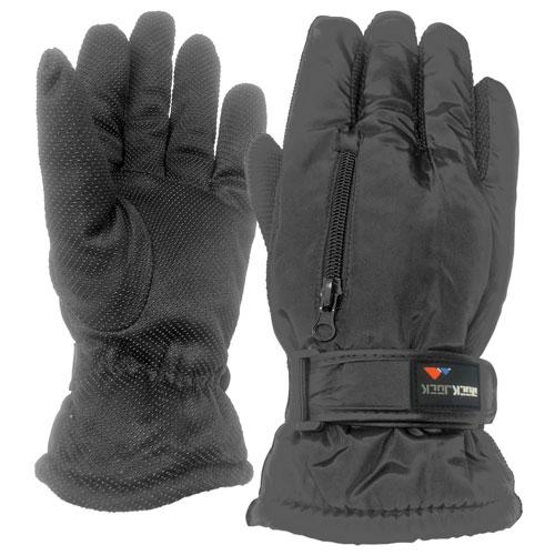 Mens Winter Sport Gloves With Gripper Palm Black