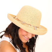 Ladies Crushable Hat with Shell Style Band