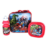 Official Marvel Avengers Lunch Bag Set 3 Piece