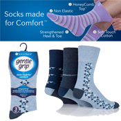 Mens Gentle Grip Socks Light Aztec