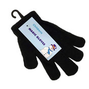 Childrens Magic Gloves Black/Assortred