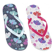 Girls Flip Flops Print Butterfly