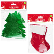 Christmas Craft Large Foam Shapes Tree/Boot