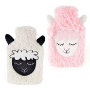 Fleece Hot Water Bottle Sheep