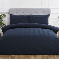 Chevron Pinsonic Duvet Set Blush Navy