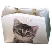 Cat Meow Design Shopping Bag
