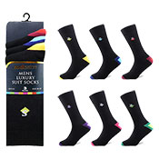 Socksation Mens Luxury Suit Socks Heal Diamond