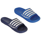 Mens Strap Lines Pool Sliders