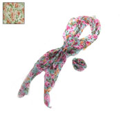 Neck Scarves Flower Print