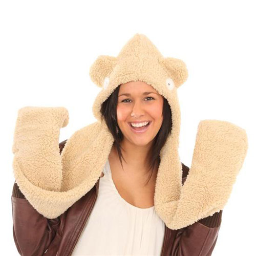 Furry Snoods with Button & Pockets