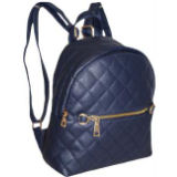 Small Quilted Backpack Blue