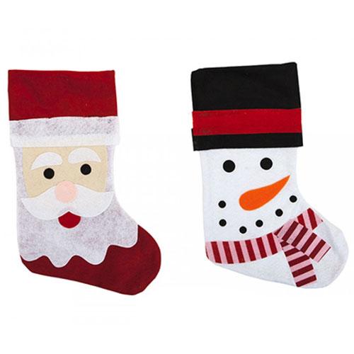 Christmas Santa And Snowman Stockings