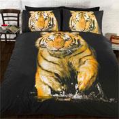Tiger In The Wild Duvet Set