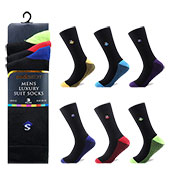 Socksation Mens Luxury Suit Socks Bottom Stripes