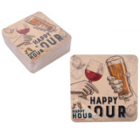 Beer Mats Happy Hour 15 Pack