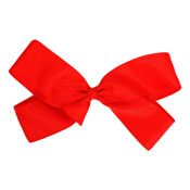 Fashion Hair Bow With Salon Style Clip Red