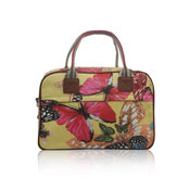 Ladies Butterfly Canvas Weekend Bag Yellow