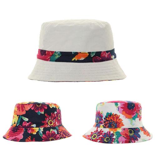 Ladies Reversible Floral Bush Hat