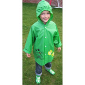 Childrens Novelty Raincoats Frog