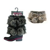 Ladies Furry Boot Topper