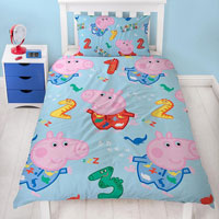 Official Peppa Pig George Counting Duvet Set