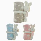 Baby Soft Spotty Bunny Design Blanket