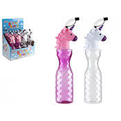 Unicorn Bottle With Straw Assorted