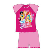 Official Girls Disney Princess Shortie Pyjamas