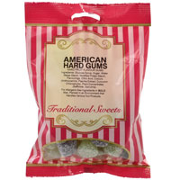 American Hard Gums Traditional Sweets 150g Bag