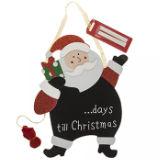 Countdown To Christmas Plaque Santa Design