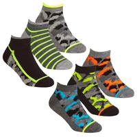 Boys 3 Pack Trainer Liner Socks Camo Design