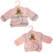 Angel Kids Baby Cardigan with Hat And Gloves