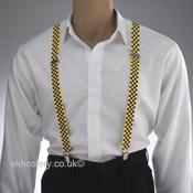 Black & Yellow Check Braces