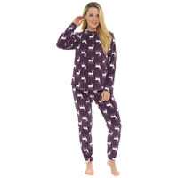 Ladies Stag Fleece Pyjama Set