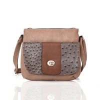 Carrie Ann Pocket Cross Body Bag Light Khaki