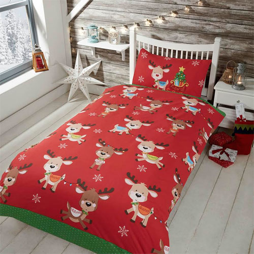 Childrens Christmas Bedding - Rudolph and Friends