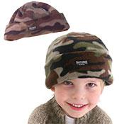 Childrens Camouflage Fleece Thinsulate Hat