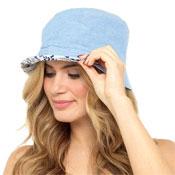 Ladies Light Denim Blue Bucket Hat
