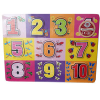 Wood Puzzle Numbers Pink