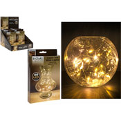 40 Mini LED Bulbs On Copper Tone Wire Warm White