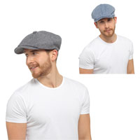 8 Panel Cotton Flat Cap